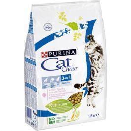 Сухой корм Cat Chow 3in1 для кошек профилактика МКБ, комочков шерсти, здоровая полость рта, 15кг