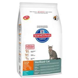 Сухой корм Hill's Science Plan Sterilised Cat для молодых кошек от 6 месяцев до 6 лет с тунцом, 8кг