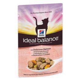Влажный корм Hill's Ideal Balance для кошек от 1 года до 7 лет с аппетитным лососем, 85 г.
