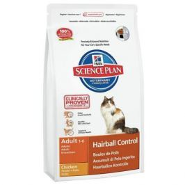 Сухой корм Hill's Science Plan Hairball Control для кошек от 1 до 7 лет для выведения шерсти курица, 5 кг
