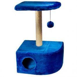 Домик RP8112дс угловой (34,5*47,5*80,5) джут синий для кошки