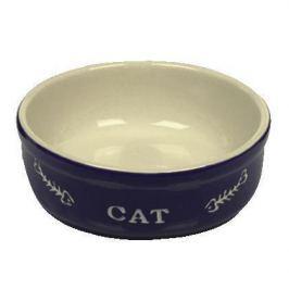 Миска Nobby Cat керамическая синяя с рисунком 13.5*5см (240мл)