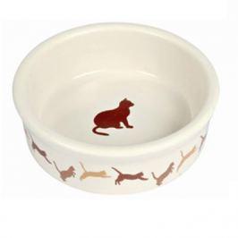 Миска Trixie керамическая с рисунком кошки d=11см 250мл