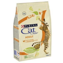 Сухой корм Cat Chow домашняя птица для взрослых кошек, 1.5кг