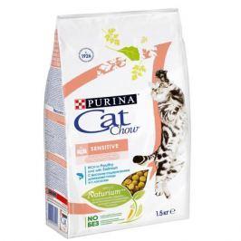 Сухой корм Cat Chow для кошек с чувствительным пищеварением и чувствительной кожей, 15кг