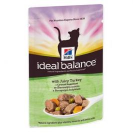 Влажный корм Hill's Ideal Balance для кошек от 1 года до 7 лет с сочной индейкой, 85г.