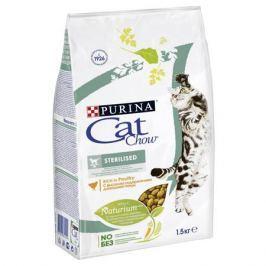Сухой корм Cat Chow для кошек и котов стерилизованных, 15кг