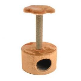 Домик ЧИП 8342 когтеточка 2-х уровневый круглый джут для кошек (38*38*93)