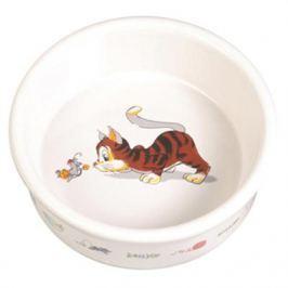 Миска Trixie керамическаяс рисунком кошки d=11.5см 200мл