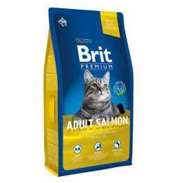 Сухой корм Brit Premium Сat adult salmon лосось для кошек, 1.5кг