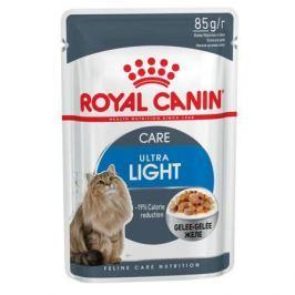 Влажный корм RC Ultra light для взрослых кошек от 1 года против лишнего веса, кусочки в желе, 85г