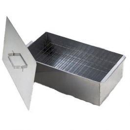 Коптильня (Кедр) малая (42.5*27*17.5см) нержавеющая сталь  с поддоном