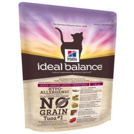 Сухой корм Hill's Ideal Balance No Grain натуральный беззерновой для кошек от 1 года до 7 лет с тунцом и картофелем, 2кг