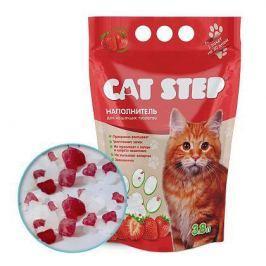 Силикагелевый наполнитель Cat Step клубника для кошек 3.8л (1.8кг)