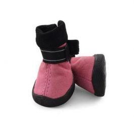 Ботинки Triol мягкие для собак замша на липучках розовые 1