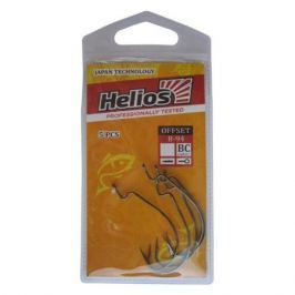 Крючок Helios офсетный B-94 №2 цвет BC (5шт) (HS-B-94-2)
