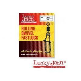 Вертлюги Lucky John c застежкой ROLLING AND FASTLOCK 012 10шт.