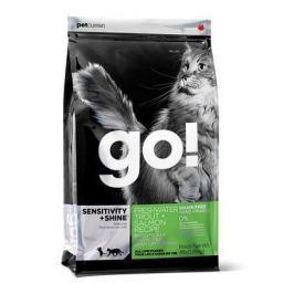 Сухой корм GO SENSITIVITY + SHINE форель+лосось беззерновой сухой для котят/кошек, 3.63кг