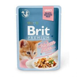 Влажный корм Brit Premium Кусочки из куриного филе в соусе для котят, 85г.