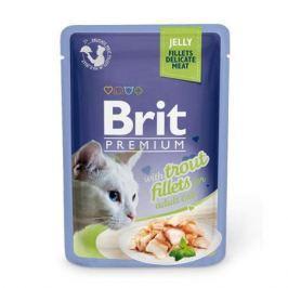 Влажный корм Brit Premium Кусочки из филе форели в желе для кошек, 85г.