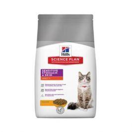 Сухой корм Hill's Science Plan Sensitive Stomach&Skin Курица для кошек, 5кг.