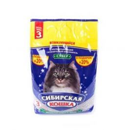 Минеральный комкующийся наполнитель Сибирская кошка