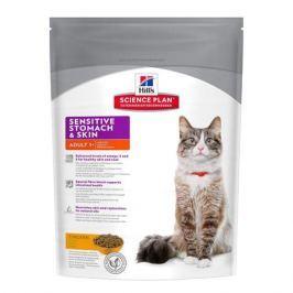 Сухой корм Hill's Cat sensitive stomach skin для кошек, 1.5кг.