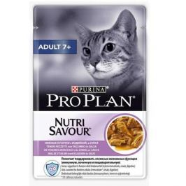 Влажный корм Pro Plan Nutri Savour Adult для кошек старше 7 лет, индейка, 85г