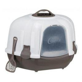 Туалет Trixie Maro домик угловой серо-коричневый/ гранит для кошек, 60*43*52 см