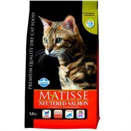 Сухой корм Farmina Matisse с лососем для стерилизованный кошек и кастрированных котов, 1.5кг.