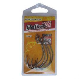 Крючок Helios офсетный B-93 №2/0 цвет BC (5шт) (HS-B-93-2/0)