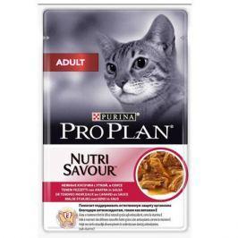 Влажный корм Pro Plan Nutri Savour Adult утка в соусе для кошек, 85г
