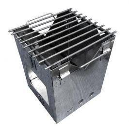 Печь-мини Рост складная походная нерж.сталь (в чехле)