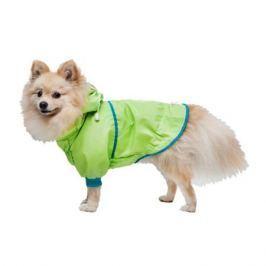 Куртка DogVille дождевик на кнопках унисекс для померанского шпица, 25 см