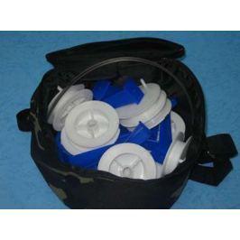 Набор жерлиц (Три Кита) круглых с прямой стойкой, синие в чехле (10шт)