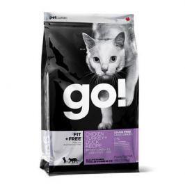 Сухой корм GO FIT + FREE 4 вида мяса: курица, индейка, утка, лосось беззерновой для котят/кошек, 7.26кг