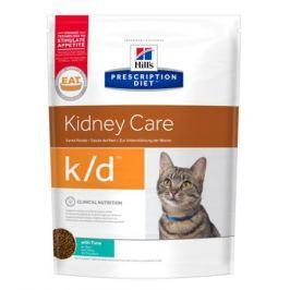 Сухой корм Hill's k/d Kidney Care для кошек для поддержания здоровья почек с тунцом, 1.5кг