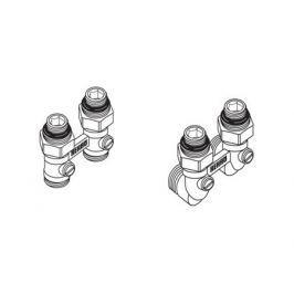 Rehau Блок шаровых кранов G1/2xG3/4 с соединительным ниппелем, угловой
