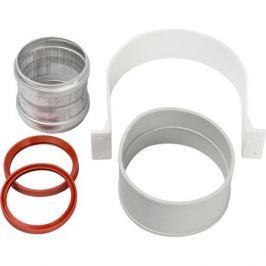 Stout Элемент дымохода для соединеия труб Dn60/100, м/м соед. муфта с уплотнен,хомут с муфтой Epdm в комплекте.(с лого.)