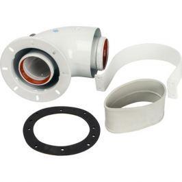 Stout Элемент дымохода Dn60/100 адаптер для котла угловой 90° коаксиальный (совместимый с Bosch, Buderus)(с логотипом)