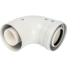 Stout Элемент дымохода конденсац. колено 90°/ адаптер 90° Dn60/100 м/п Pp-Fe (совместим. с Baxi,viessmann)