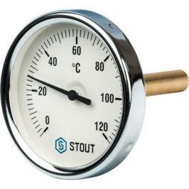 Stout Термометр биметаллический с погружной гильзой. Корпус Dn 80 мм, гильза 75 мм 1/2