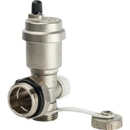 Stout Регулируемый концевой фитинг с дренажным вентилем, автоматический воздухоотводчик 1