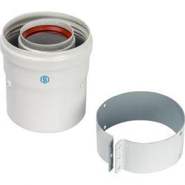Stout Элемент дымохода Dn60/100 адаптер для котла вертикальный коаксиальный (совместимый с Vaillant, Protherm New)(с логотипом)