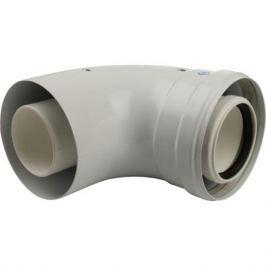 Stout Элемент дымохода конденсац. угол 90° Dn60/100 м/п с инспекционным окном Pp-Fe
