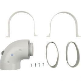 Stout Элемент дымохода Dn60/100 адаптер для котла угловой 90° коаксиальный (совместимый с Baxi,viessmann)