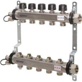 Uponor Smart S коллектор с клапанами стальной, выходы 12X3/4