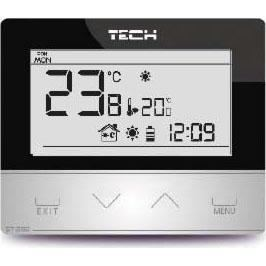 Tech St-292 v2 Беcпроводной комнатный двухпозиционный терморегулятор, черный