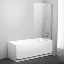 Pvs1-80 блестящая + Транспарент, Pivot шторка для ванны