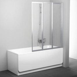 Vs3 115 белый+ транспарент, Supernova шторка для ванны